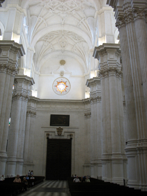 GRANADA: On our own we visited the cathedral.