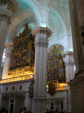 GRANADA: The organ in the cathedral.