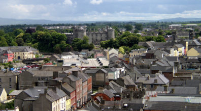 KILKENNY: View of Butler Castle from the top of St. Canice's tower.