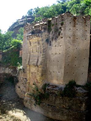 GRANADA: Remains of an ancient Roman bridge across the Rio Darro.