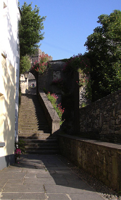 KILKENNY: St. Canice's Steps (1614) leading to the cathedral.