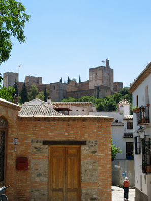 ALHAMBRA: One of the main reasons to tour the Albaicín is for its fine views of the Alhambra on the hilltop across the Rio Darro.