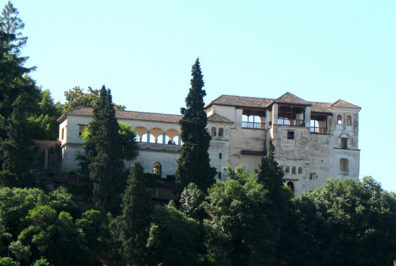 ALHAMBRA: View of the Generalife.