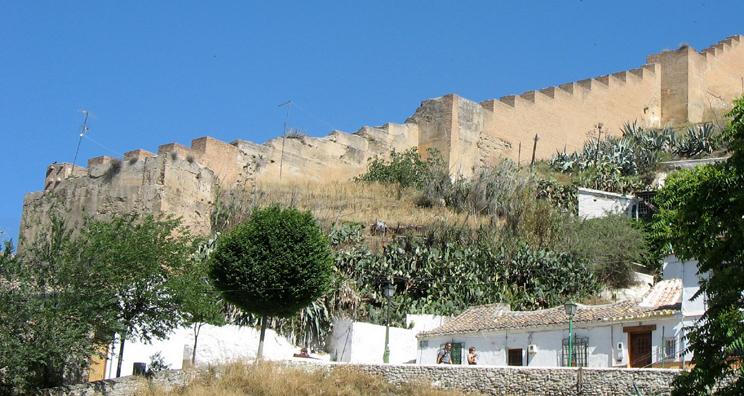 ALHAMBRA: View of the wall surrounding the Alhambra.