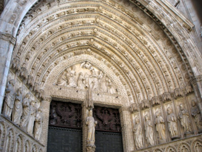 TOLEDO: But the main entrance, where tourists pay to go in, has a magnificent Gothic arched doorway.