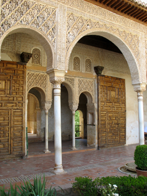 ALHAMBRA: The Generalife was once brightly painted.