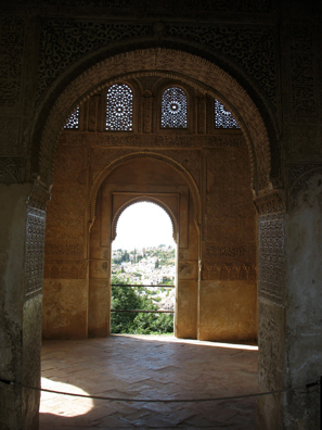 ALHAMBRA: Arches in the Generalife.