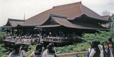 KYOTO: The main hall is thronged with Japanese students in uniform. May 14, 1998