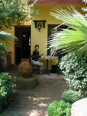 ISTANBUL: In nice weather you can eat breakfast in the lovely enclosed garden.