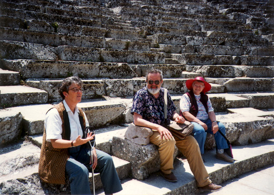 EPIDAURUS: Catherine talks with Don and Sylvia.