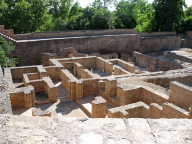 ALHAMBRA: The ruins of the Palace of the Abencerrajes, the oldest part of the Moorish Alhambra.