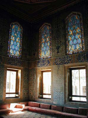 TOPKAPI PALACE: We weren't prepared for the lovely stained-glass windows in the Palace.