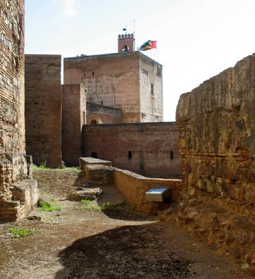 ALHAMBRA: View of the Torre de la Vela (watchtower) in the Alcazaba