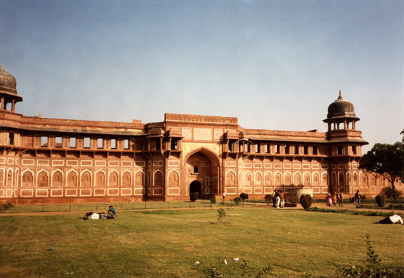 These massive constructions are evidence of the might of the Mughal Empire. 17th C., built by Shah Jahan.