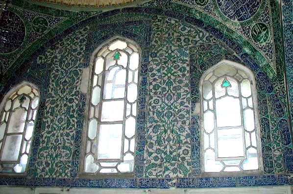 TOPKAPI PALACE: More windows and tiles.