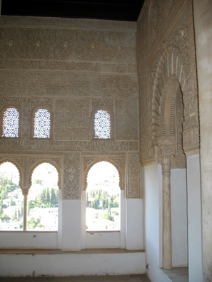 ALHAMBRA: A small room for prayer, but with a great view.