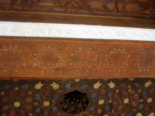 ALHAMBRA: The design of the restored ceilings is largely conjectural, but based on Moorish motifs.
