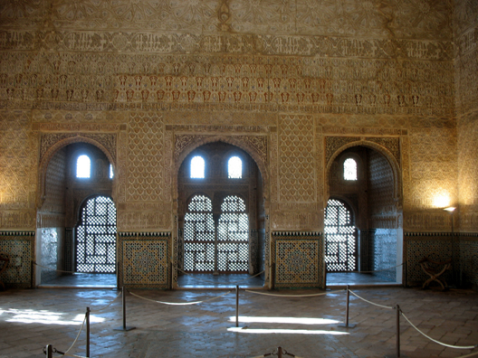 ALHAMBRA: Salón de Embajadores, where foreign ambassadors and other distinguished guests were received.