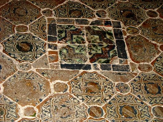 ALHAMBRA: Detail of floor tiles.