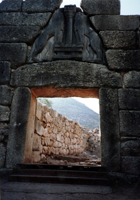 "MYCENAE: The gate was said to have been built of enormous ""Cyclopean"" stones so large only a Cyclops could lift them, or so thought the ancients."