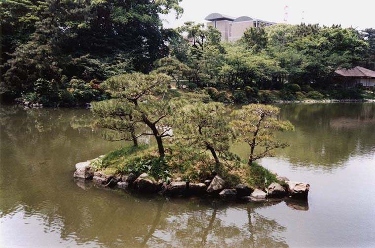 HIROSHIMA: One of ten artificial islands in the garden. May 19, 1998