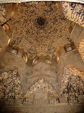 ALHAMBRA: The famous honeycomb domed ceiling, Sala de los Abencerrajes.