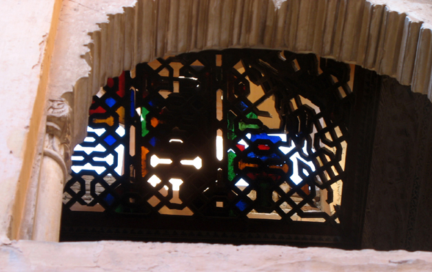 ALHAMBRA: The sole remaining fragment of original stained glass in the Alhambra.