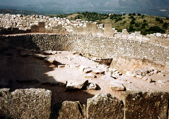 MYCENAE: The circular tombs just inside the gate where the golden treasure hoard was found.