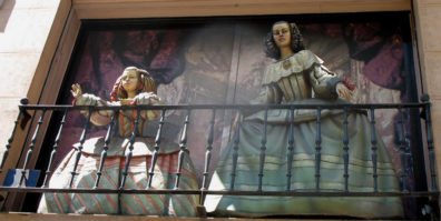 MADRID: The next day was largely devoted to exploring art museums. We were amused by the life-sized figures on a storefront balcony reproducing various figures from the paintings of Goya.