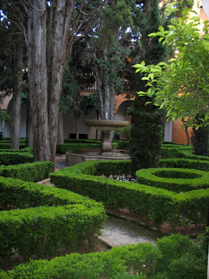 ALHAMBRA: As the guards shooed the last visitors toward the exit, we crossed the gardens . . .