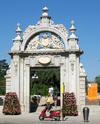 MADRID: We then went for a walk to Madrid's largest park, Parque del Retiro, entering through the Puerta de Felipe IV.