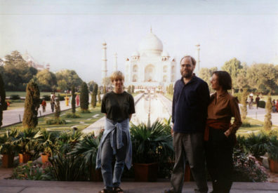 Left to right: daughter Megan Brians, husband Paul Brians, wife Paula Elliot.
