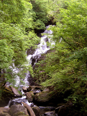 KILLARNEY NAT. PARK: It's a very short walk to the beautiful Torc Waterfall.