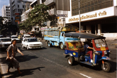 One of the most popular modes of transportation is the ubiquitous tuk-tuk, a diminutive three-wheeled open-air taxi.