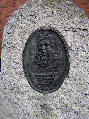 DUBLIN: Besides many famous writers, Dublin produced a composer who was renowned in the 19th century: John Field (1782-1837). A plaque commemorates his birthplace. He died in Moscow.