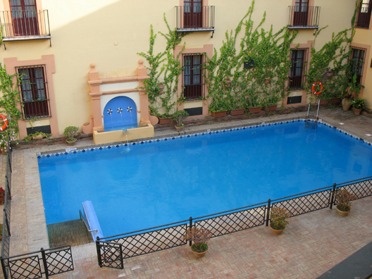 CARMONA: The hotel swimming pool.