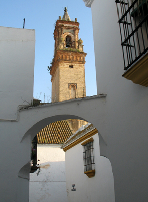 CARMONA: Because the streets are so narrow and twisting, it is easy to get lost; but because the town is so small, the consequences are rarely serious.