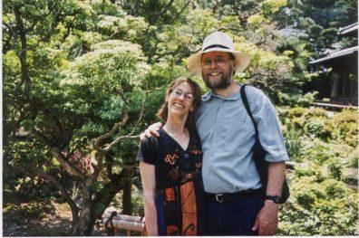 NARA: Paul and Paula preparing to enter the Yoshikien Garden, comprising a pond, moss garden, a tea ceremony hut.