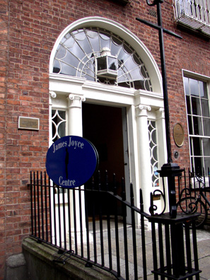 DUBLIN: We took an interesting guided tour of James Joyce's Dublin run by the James Joyce Cultural Centre, housed in the restored home of dancing teacher Denis Maginni, mentioned several times in Ulysses.