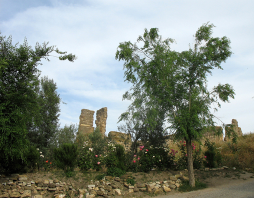 CARMONA: The ruins of Pedro alcazar, near the later structure now converted into an elegant hotel.