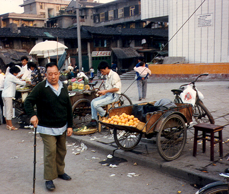 LESHAN: Orange vendors.