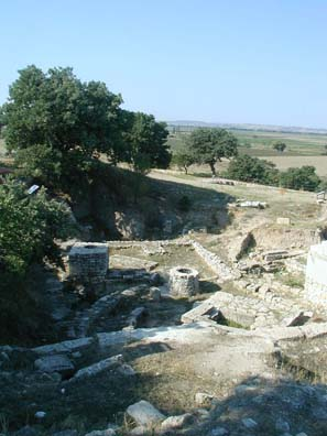TROY: Sanctuary, Troy VIII (1000-85 BCE). Xerxes sacrificed 1000 oxen here on his way to conquer Greece (480 BCE),