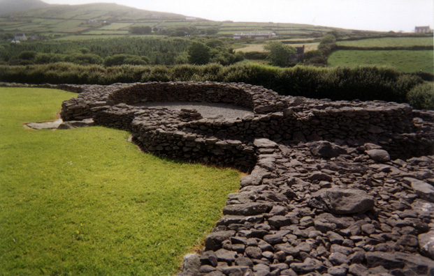 DINGLE PENINSULA: Another of the building foundations at Riasc.