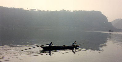 LESHAN: Boat on the river.