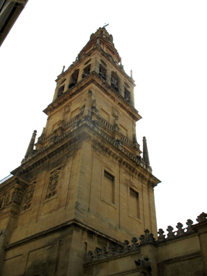 CORDOBA: This bell tower was built at the same time as the cathedral inside the mosque, 1523.
