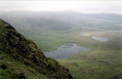DINGLE PENINSULA: The view north, from the top of the pass.