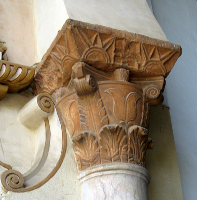 CORDOBA: A capital on one of the pillars in the courtyard.