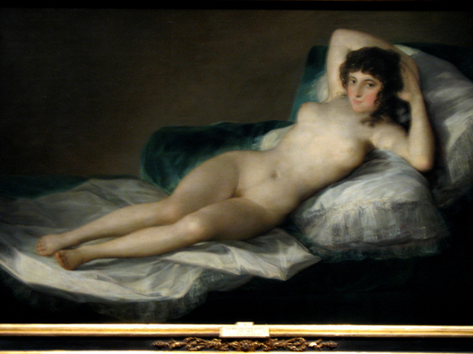 MADRID: Goya's Naked Maja is his most famous, though least characteristic painting.