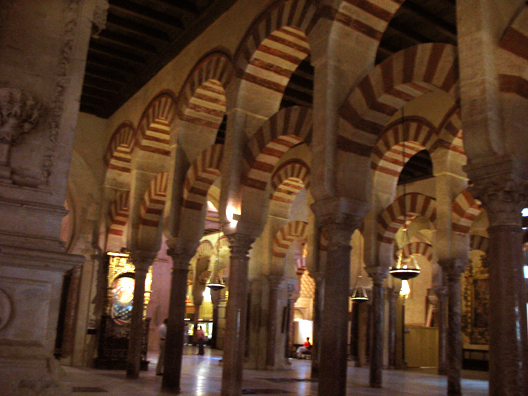 CORDOBA: Another view of the arches.