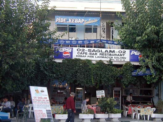 "BERGAMA: aglam Restaurant no. 2 provided us with a tasty lunch. ""Kebap"" means ""shish-kebabs""--skewered meat chunks, always grilled to order, so be prepared to wait a bit. ""Pide"" is ""pita"" and is pronounced the same way. If you like gyros you'll like pides."